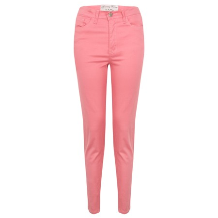 Amazing Woman  Moonlite 12 Superstretch Cotton Skinny Fit Trousers - Pink