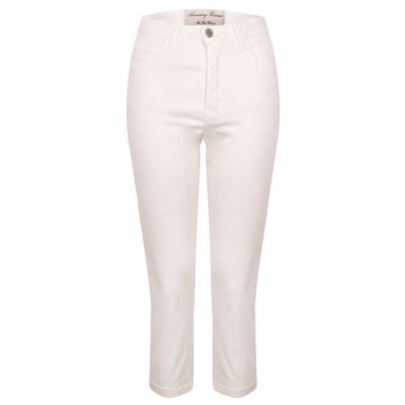 Amazing Woman  Moonlite 09 Superstretch Slimfit Crop Trouser - White
