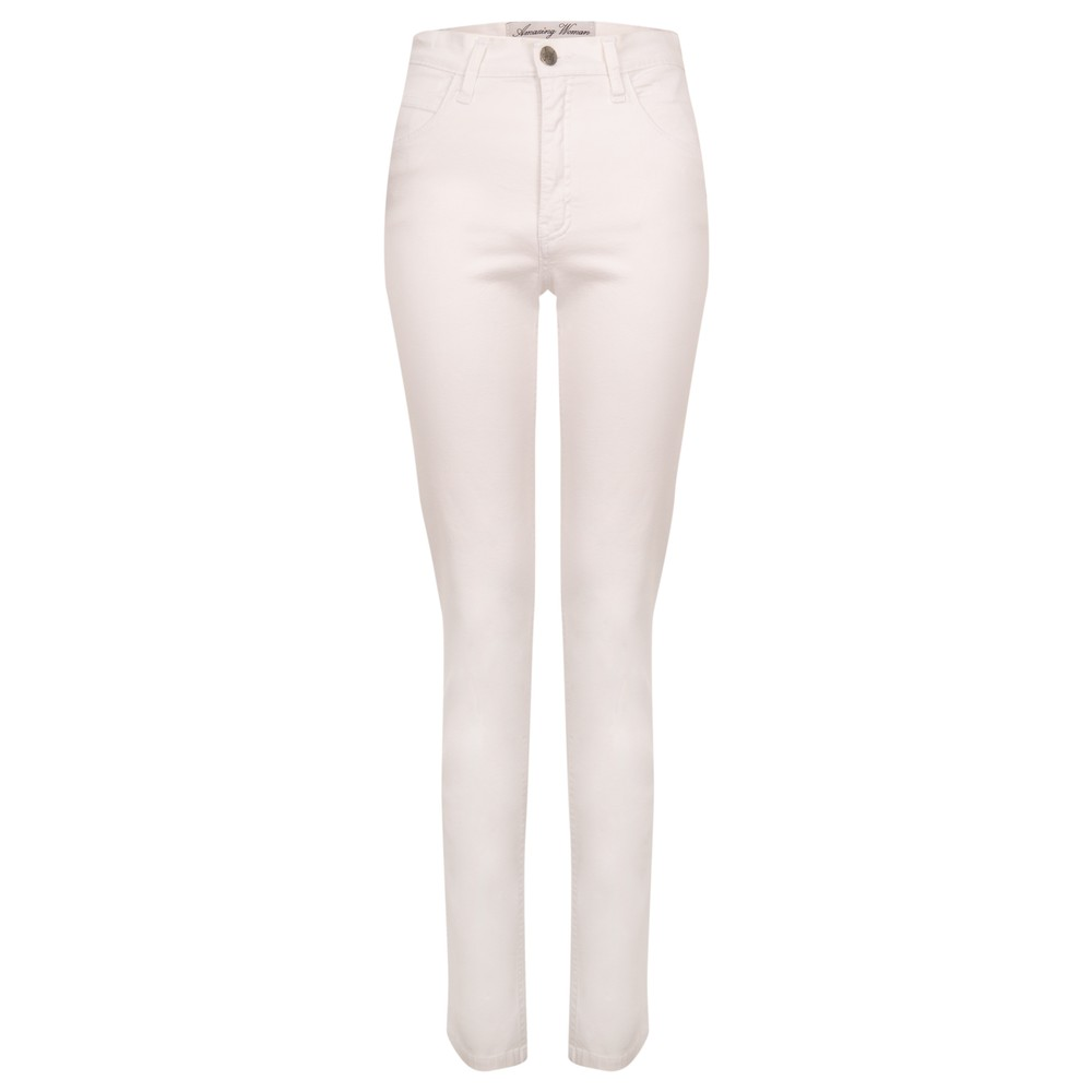 Amazing Woman Moonlite 02 Slimfit Cotton Stretch Jean  White