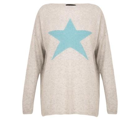 Luella Classic Star Cashmere Blend Jumper - Grey