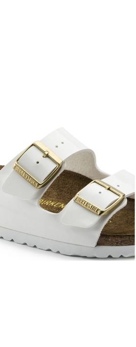 Birkenstock Arizona Patent Sandal White