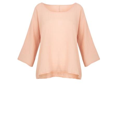 TOC  Billie Linen Mix Easy Fit Top - Pink