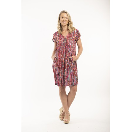 Orientique Skyros Ezy Crinkle Dress - Pink