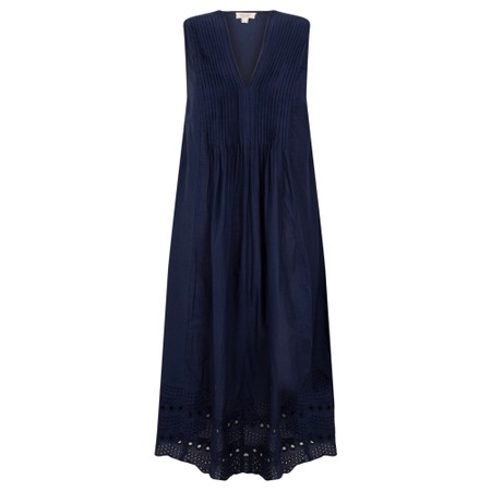 Orientique Broderie Dress - Blue
