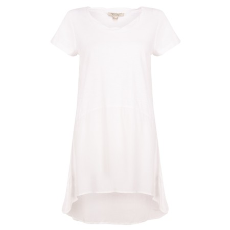 Orientique Essential Short Sleeve Tunic Top  - White