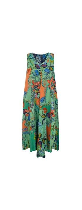 Orientique Agenia Reversible Dress Blue Multi Print