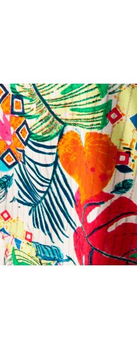 Orientique Paradise Jumpsuit White Multi Print