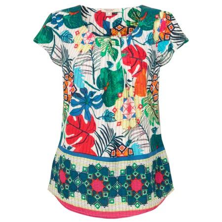 Orientique Paradise Cap Sleeve Top - Multicoloured