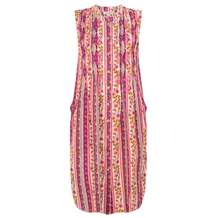 Orientique Elia Pleated Dress  - Multicoloured