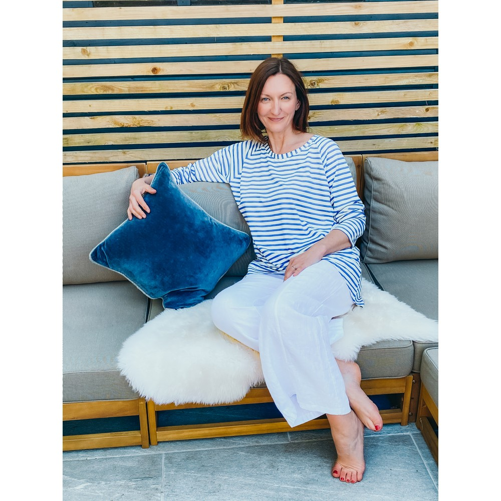 Chalk Robyn Stripe Top Blue / White