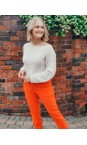 Robell  Orange 321 Bella 09 Ankle Length 7/8 Cuff Trouser