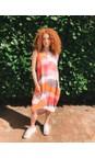 Foil Sandbar Melons Switching Sides Dress
