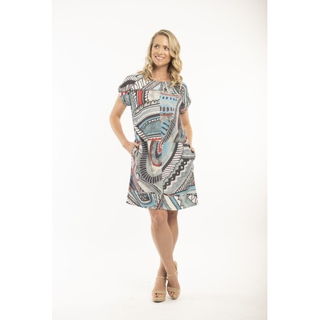 Orientique Faraga Dress with Pockets - Grey