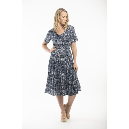Orientique Samothrace Godet Maxi Dress - Blue