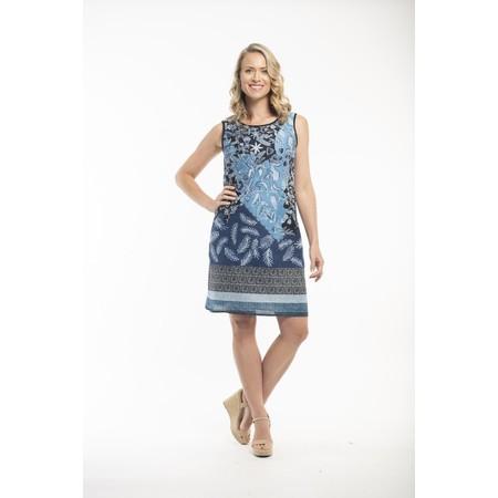 Orientique Crete Reversible Shift Dress - Blue