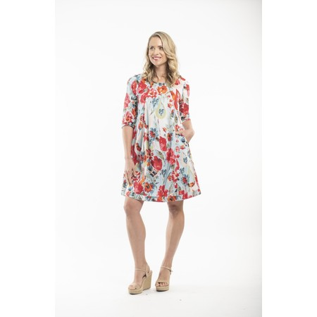 Orientique Kefalonia 3QS Sleeve Dress  - Multicoloured