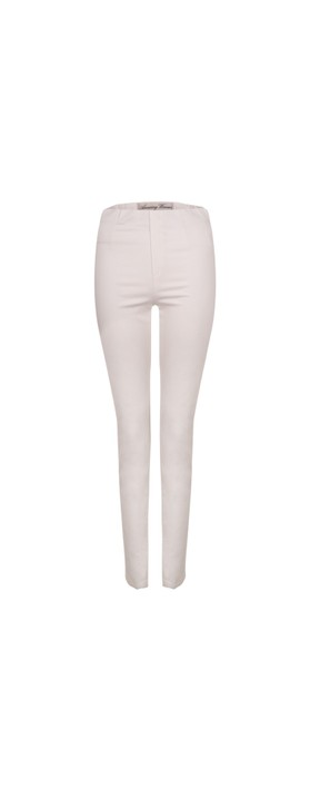Amazing Woman  Moonlite 08 Superstretch Slimfit Pull On Trouser White