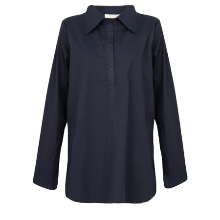 Amazing Woman  Erica Classic Grandad Shirt - Blue