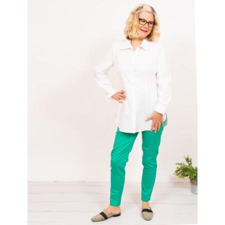 Amazing Woman  Micha Long Classic Shirt with Cuff Detail - White