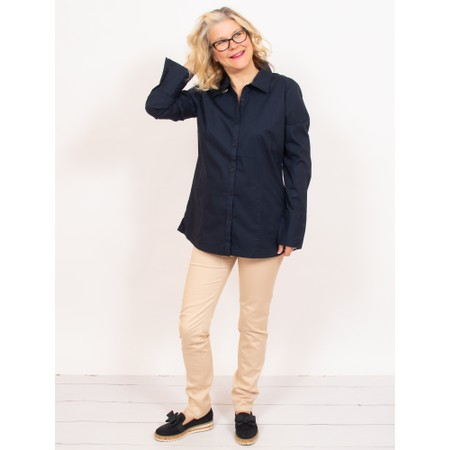 Amazing Woman  Rayure Classic Shirt with Cuff Detail - Blue