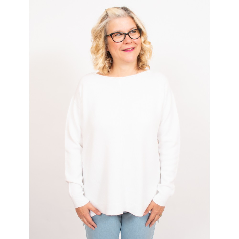 Amazing Woman Maggie Seam Front Supersoft Jumper Off White