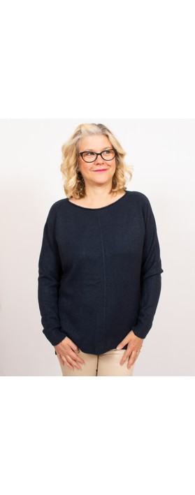 Amazing Woman Maggie Seam Front Supersoft Jumper Navy