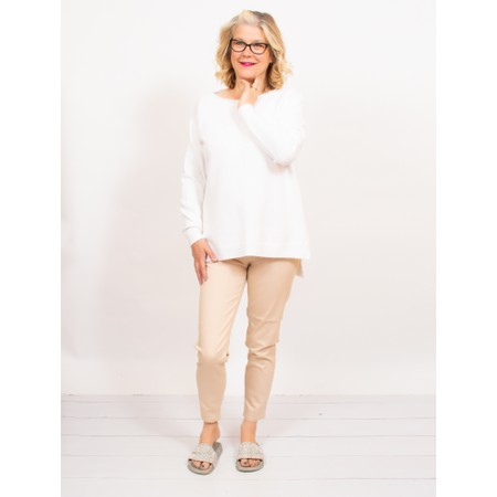 Amazing Woman  Moonlite 12 Superstretch Cotton Skinny Fit Trousers - Beige