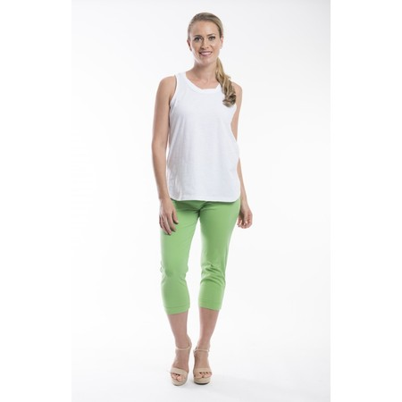 Orientique Bangalene Capri Trouser - Green
