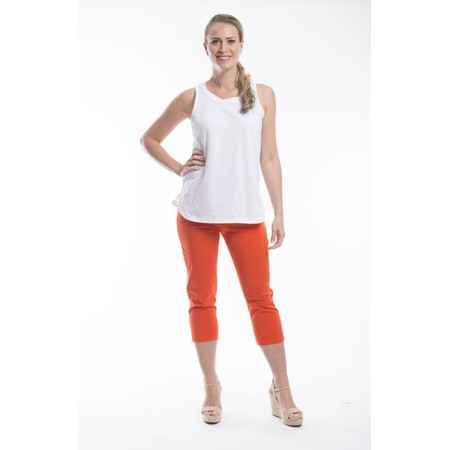Orientique Bangalene Capri Trouser - Red