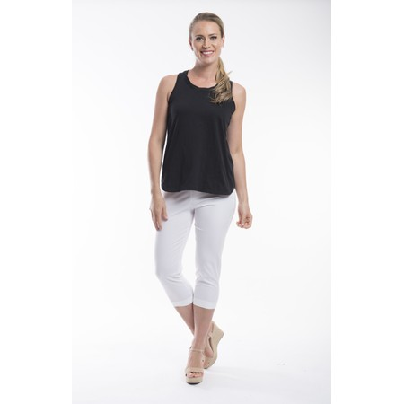 Orientique Bangalene Capri Trouser - White