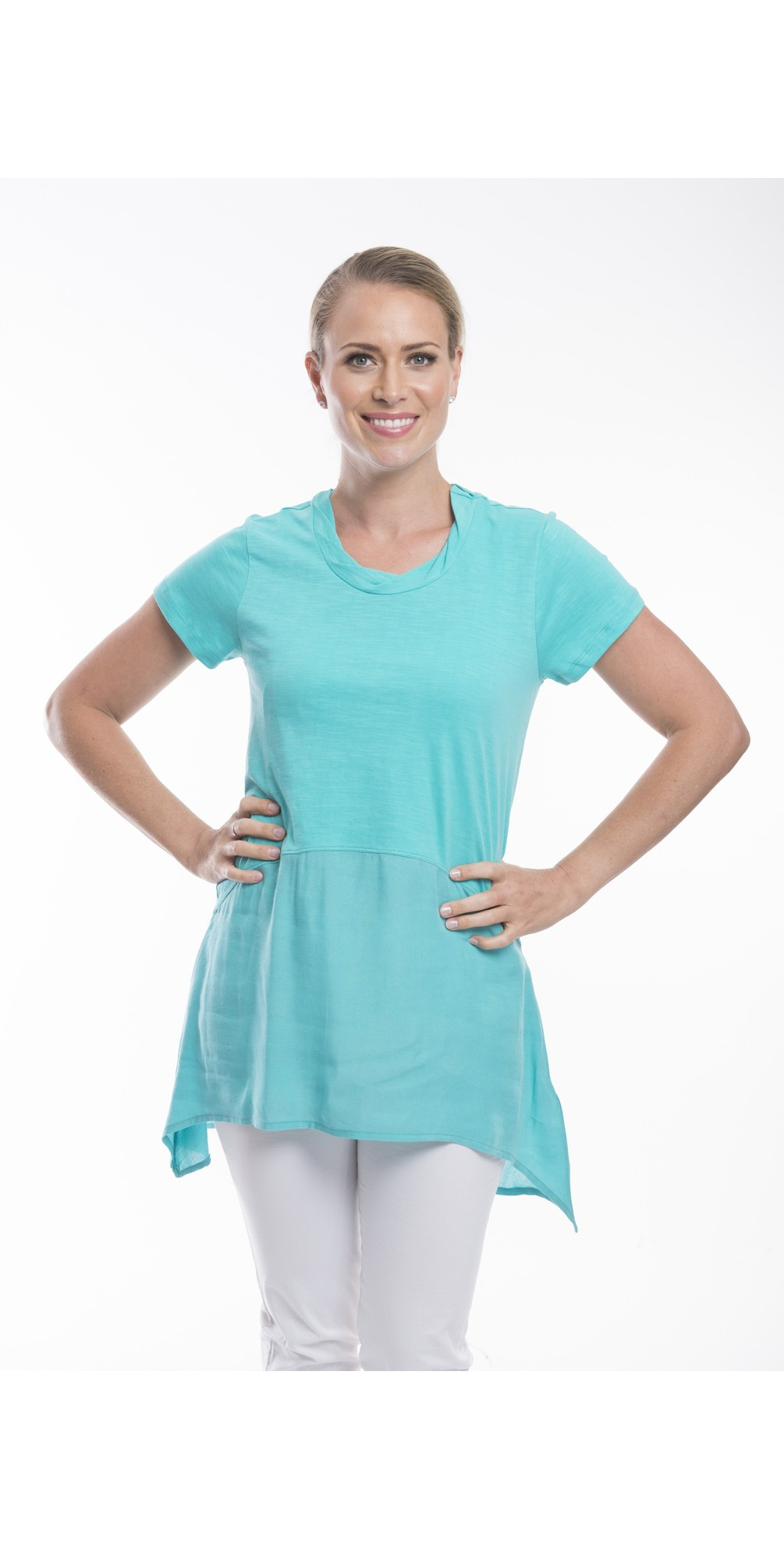 Essential Short Sleeve Tunic Top  main image