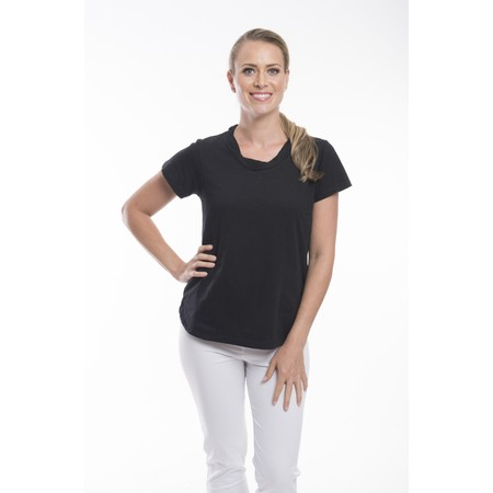 Orientique Essential Cotton Tee Top - Black