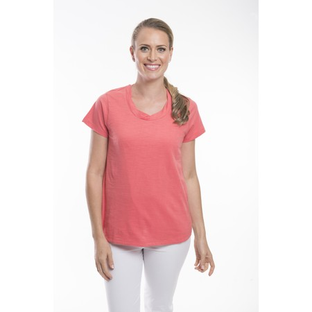 Orientique Essential Cotton Tee Top - Orange