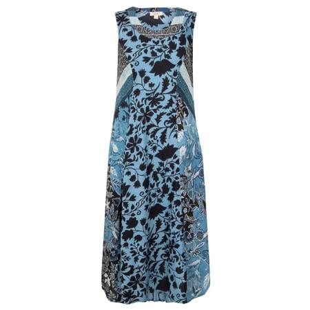 Orientique Crete Bias Dress - Blue