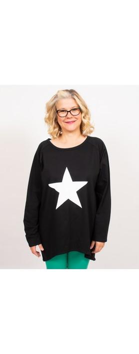 Chalk Robyn Star Top Black / White