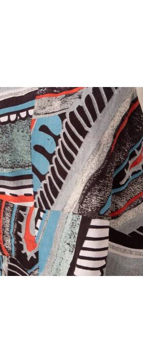 Orientique Faraga Jumpsuit Grey Blue Multi Print