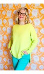 Amazing Woman Flo Green Maggie Seam Front Supersoft Jumper