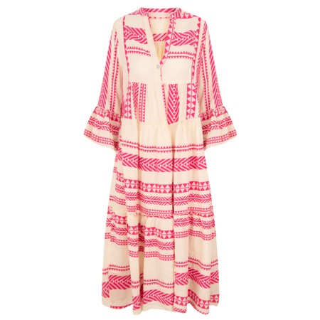 TOC Della Greek Style Maxi Dress - Pink