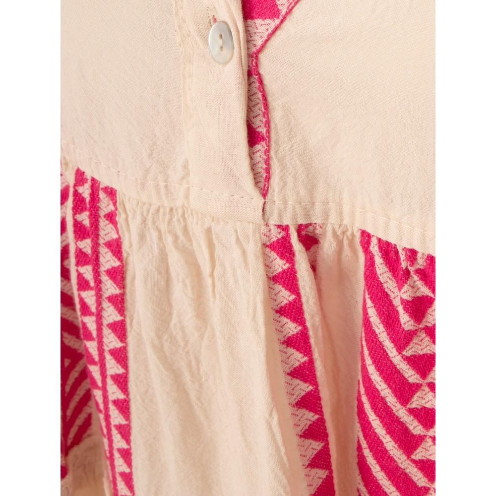 TOC Della Greek Style Maxi Dress Fuchsia