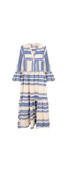 TOC Della Greek Style Maxi Dress Royal