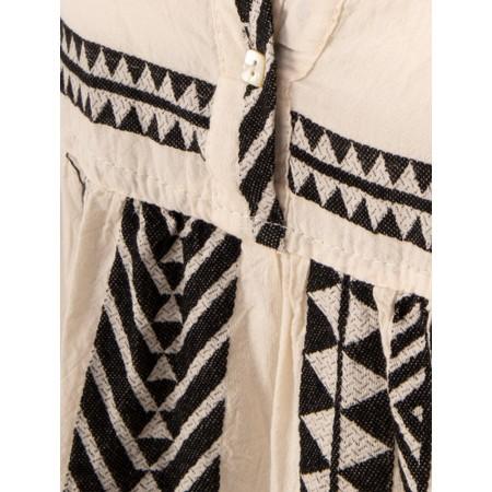 TOC  Ella Greek Style Tunic Dress - Black
