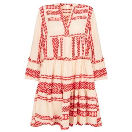 TOC  Ella Greek Style Tunic Dress - Red