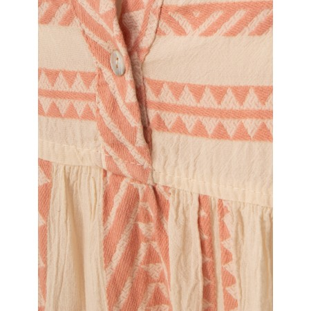 TOC  Ella Greek Style Tunic Dress - Pink