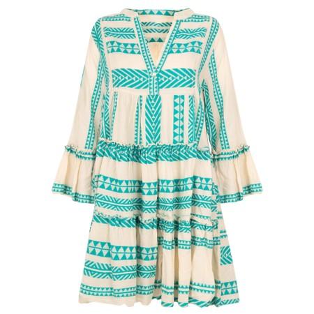 TOC  Ella Greek Style Tunic Dress - Green