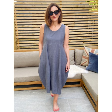 Thing Freya Linen  Sleeveless Dress - Grey