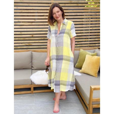 Sahara Madras Check Shirt Linen Dress - Multicoloured