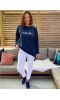 Robell  White 10 Bella 09 White Ankle Length 7/8 Cuff Trouser
