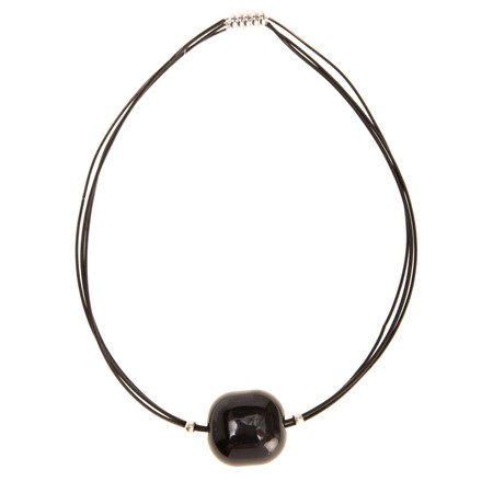 Etnika Pebble Necklace - Black