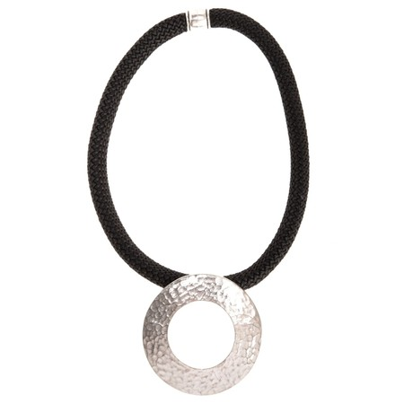 Strata Electra Short Necklace - Black