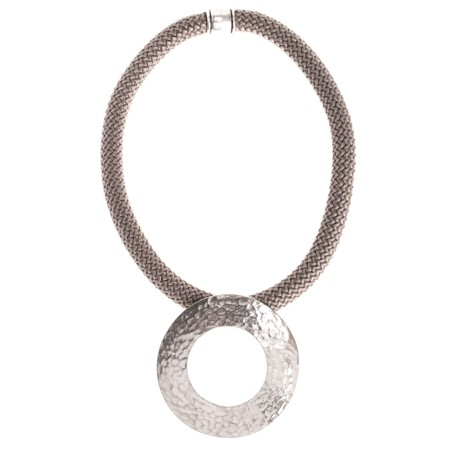 Strata Electra Short Necklace - Brown